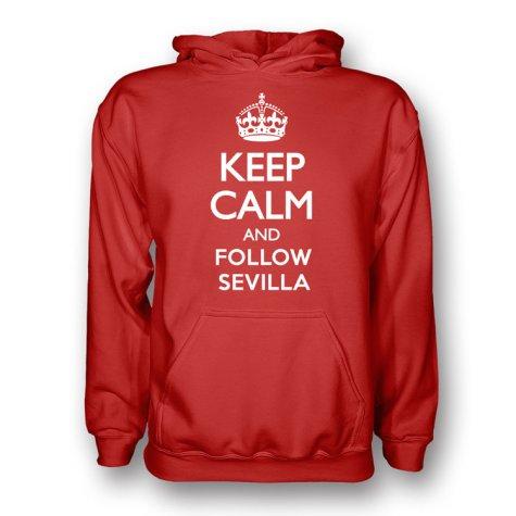 Keep Calm And Follow Sevilla Hoody (red) - Kids