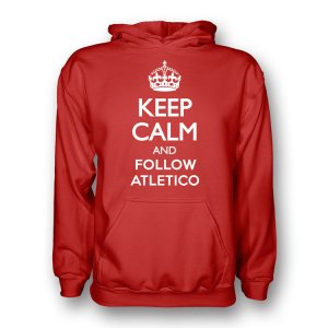 Keep Calm And Follow Atletico Madrid Hoody (red) - Kids