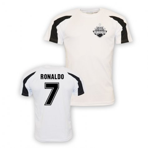 Cristiano Ronaldo Real Madrid Sports Training Jersey (white) - Kids