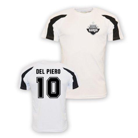 Alessandro Del Piero Juventus Sports Training Jersey (white) - Kids