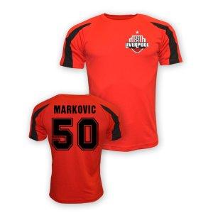 Lazar Markovic Liverpool Sports Training Jersey (red)