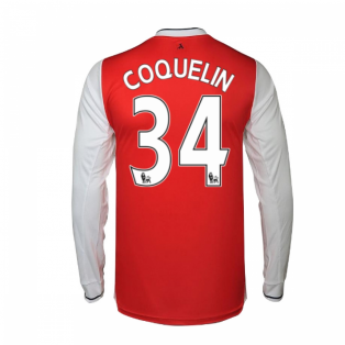 2016-17 Arsenal Long Sleeve Home Shirt (Coquelin 34)