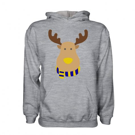 Sweden Rudolph Supporters Hoody (grey) - Kids