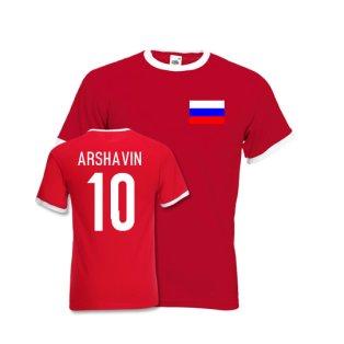 Andrei Arshavin Russia Ringer Tee (red)