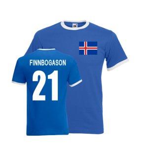 Alfreo Finnbogason Iceland Ringer Tee (blue)