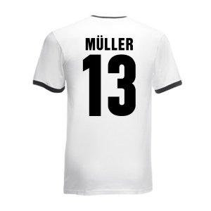 Thomas Muller Germany Ringer Tee (white-black)