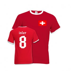 Gokhan Inler Switzerland Ringer Tee (red)
