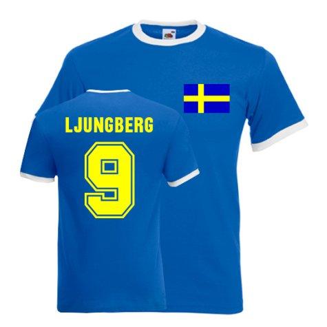 Freddie Ljungberg Sweden Ringer Tee (blue)