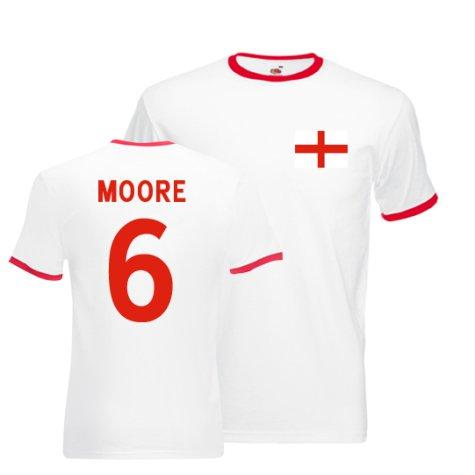 Bobby Moore England Ringer Tee (white-red)