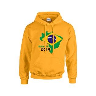 Brazil 2014 Country Flag Hoody (yellow)