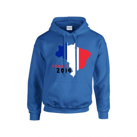 France 2014 Country Flag Hoody (blue) - Kids