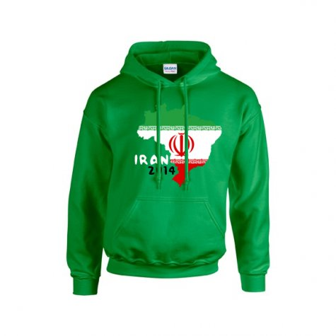 Iran 2014 Country Flag Hoody (green)