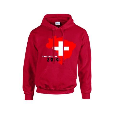 Switzerland 2014 Country Flag Hoody (red) - Kids