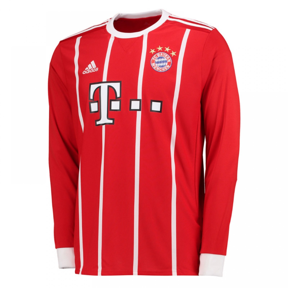 d64773f67 2017-2018 Bayern Munich Adidas Home Long Sleeve Shirt