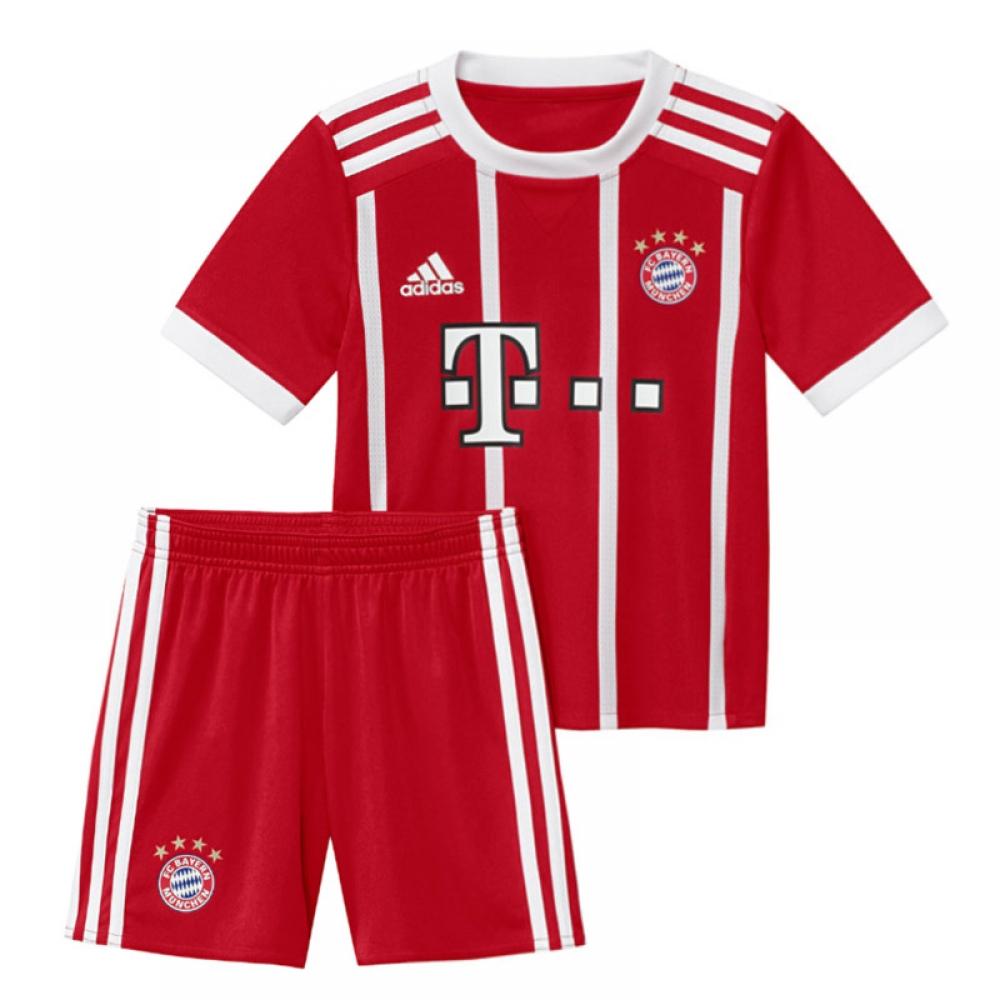 ffdabb9c4 2017-2018 Bayern Munich Adidas Home Little Boys Mini Kit