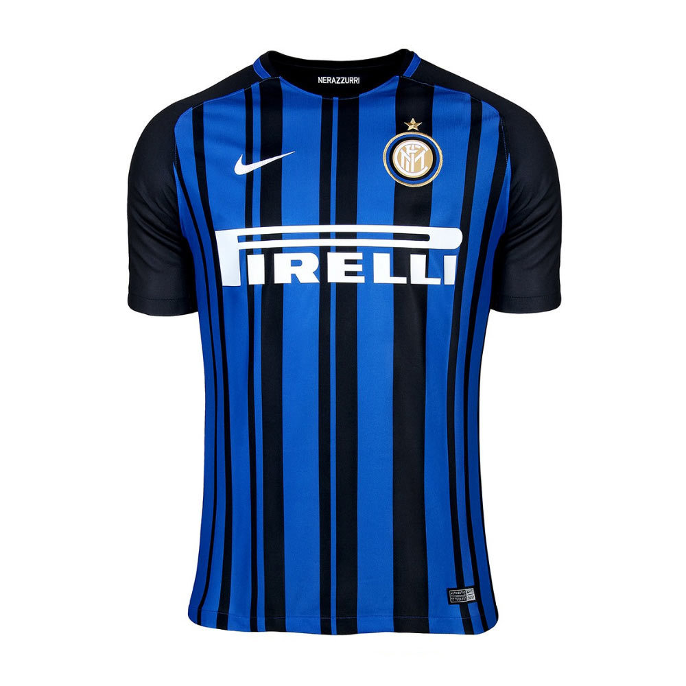 new styles 43da2 6b227 inter milan 4 jzanetti home short sleeves mens adults 2016 ...
