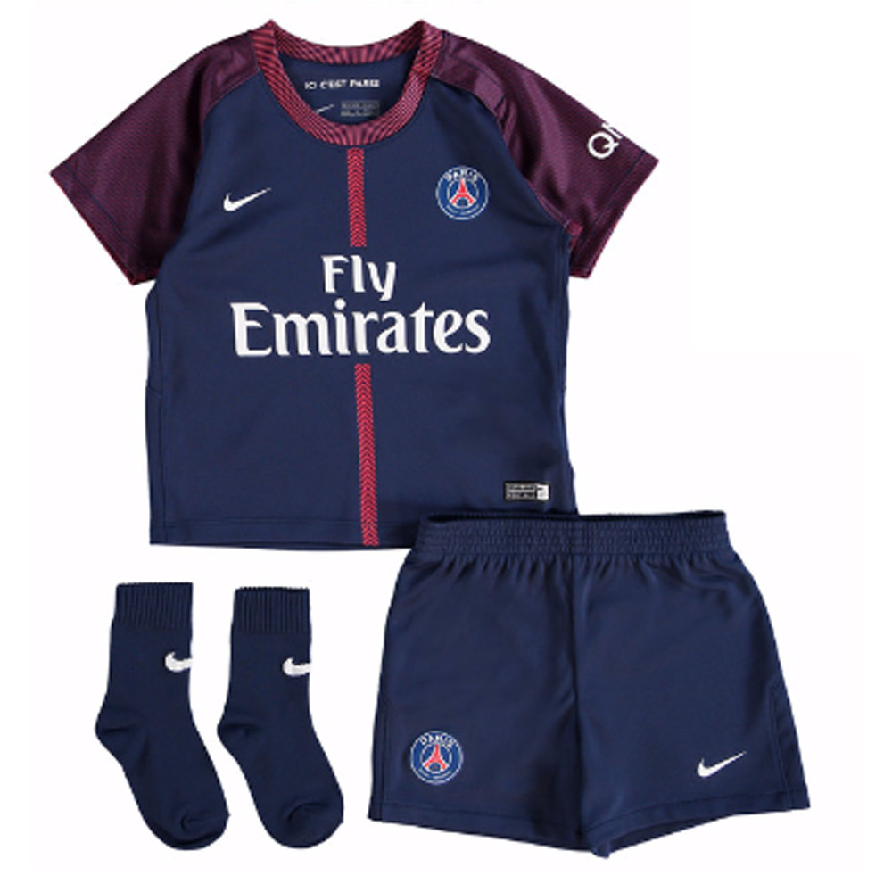 cc7ab969aac 2017-2018 PSG Home Nike Baby Kit