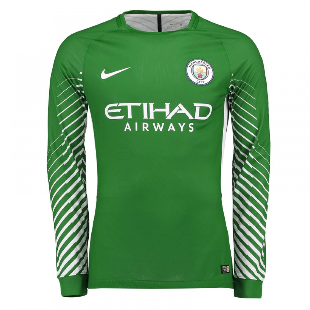 2017-2018 Man City Home Nike Goalkeeper Shirt (Green) 4830293ed