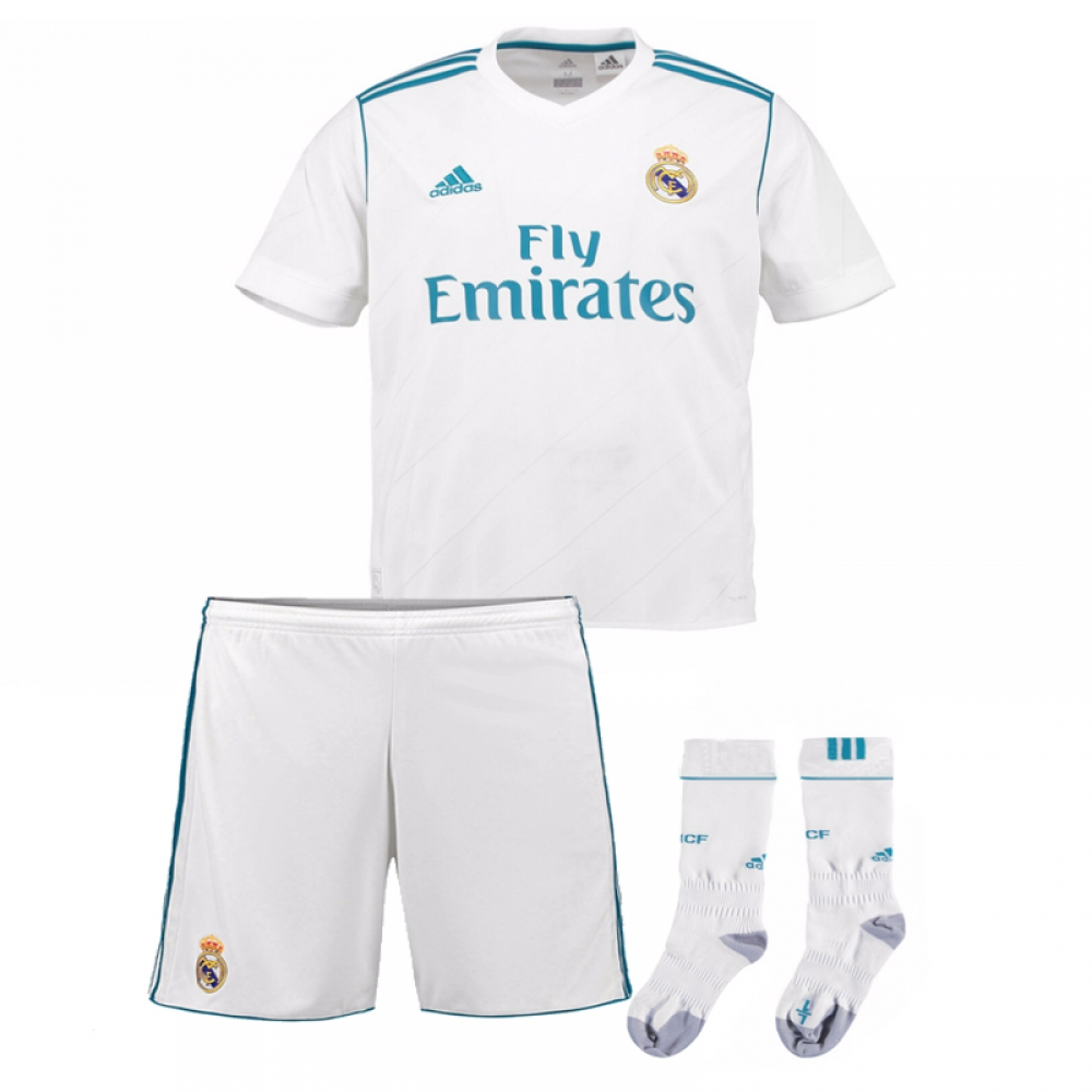 69a86c817cc Real Madrid Home Shirt - Adult   Kids Kit - UKSoccershop.com