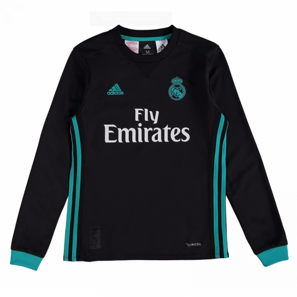 new product 42245 6768e Up To Jersey Long 40 Madrid Sleeve 3rd Discounts Real Sale ...