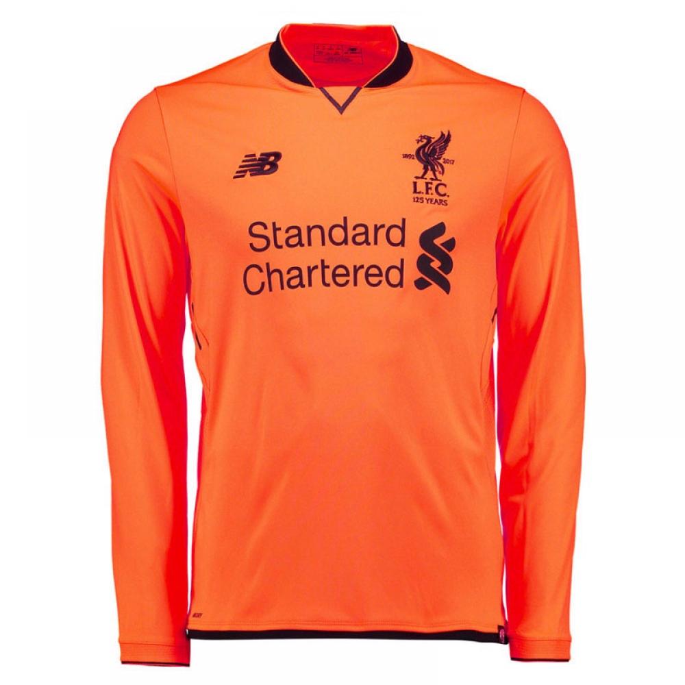 63ac661a1e4 2017-2018 Liverpool Third Long Sleeve Shirt (Kids)