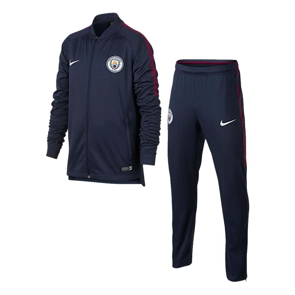 2017-2018 Man City Nike Dry Tracksuit (Navy) - Kids