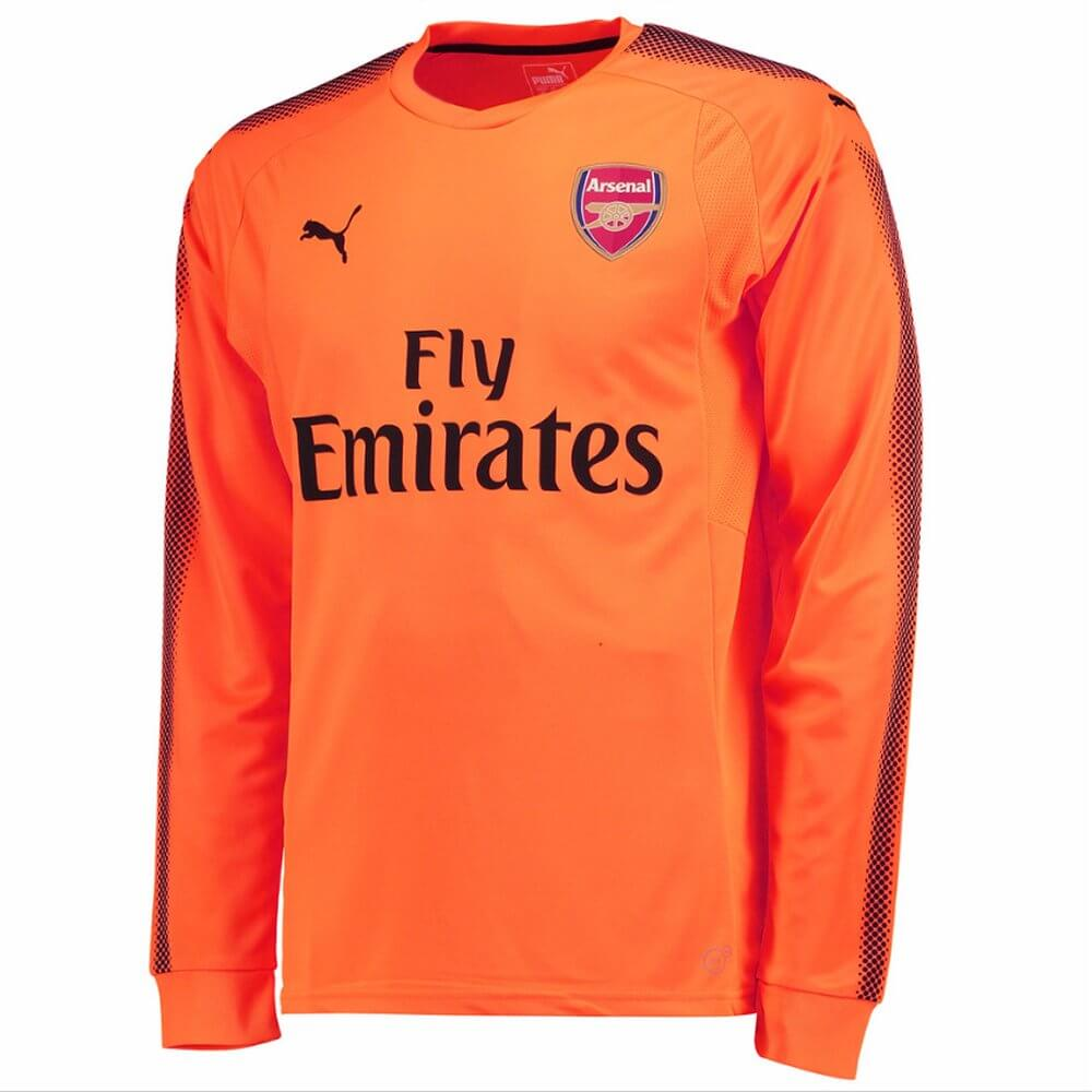 2017-2018 Arsenal Puma Away LS Goalkeeper Shirt (Orange) 7b696fd7f