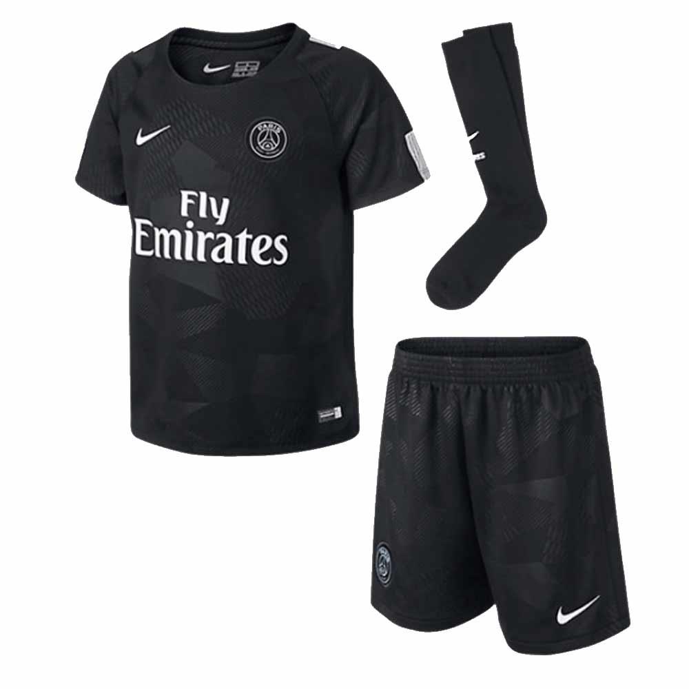 4d30fbb21d2d 2017-2018 PSG Third Nike Little Boys Mini Kit