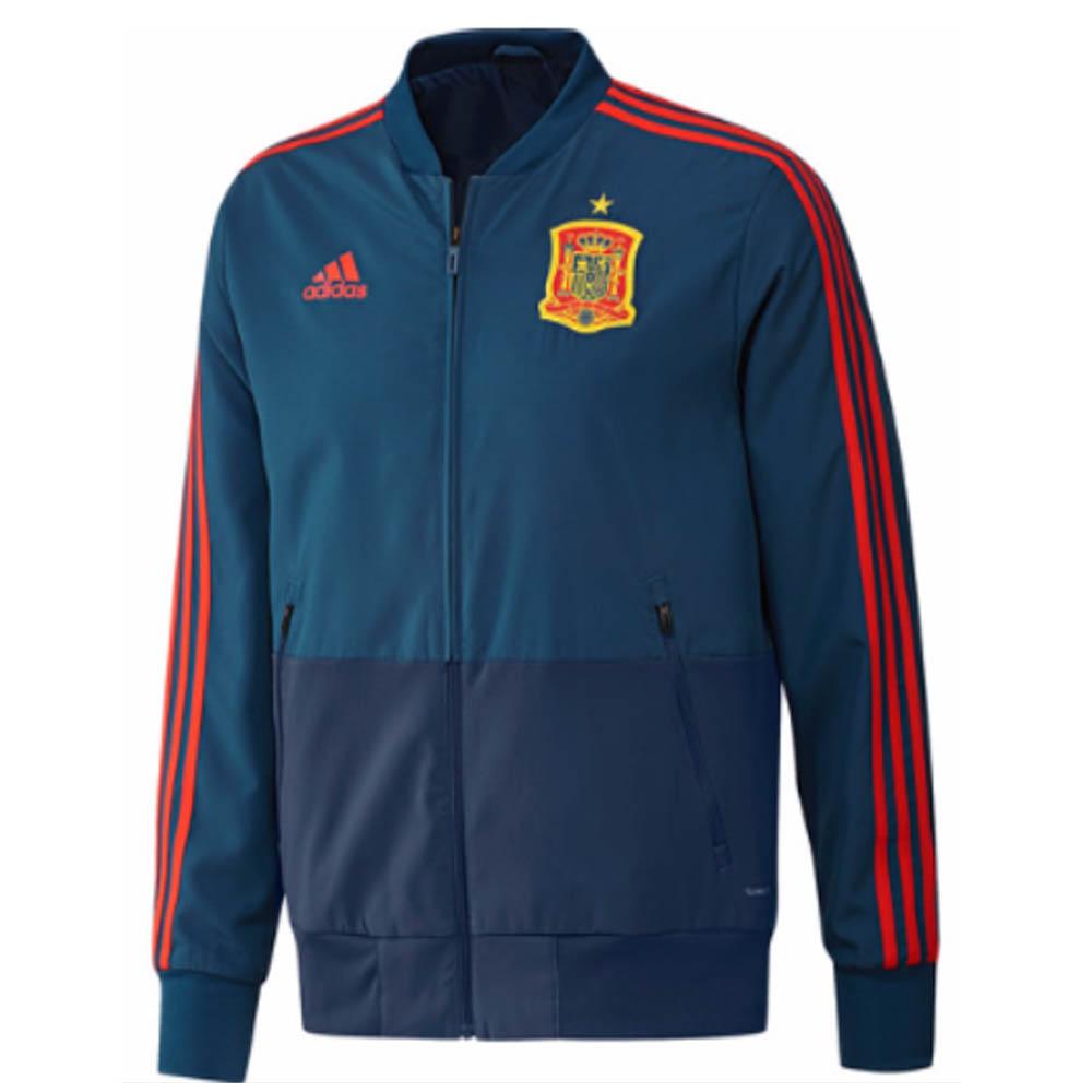 01ddd232fba 2018-2019 Spain Adidas Presentation Jacket (Blue)