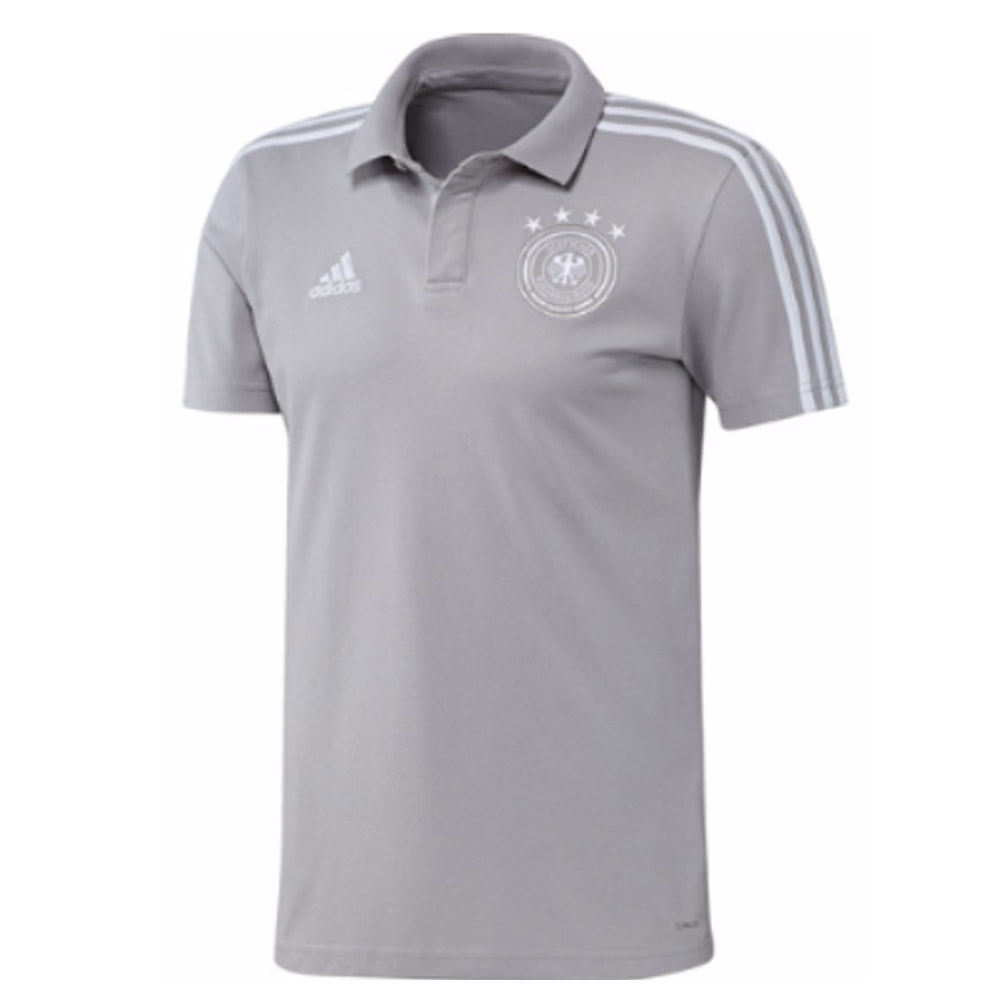 official photos 6ca22 1c186 2018-2019 Germany Adidas Cotton Polo Shirt (Grey)