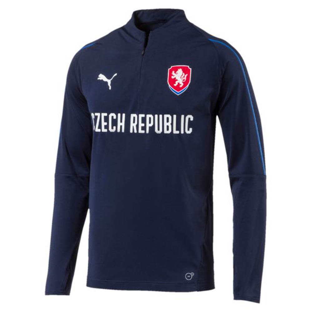 fc703e98a 2018-2019 Czech Republic Puma 1 4 Zip Training Top (Peacot)