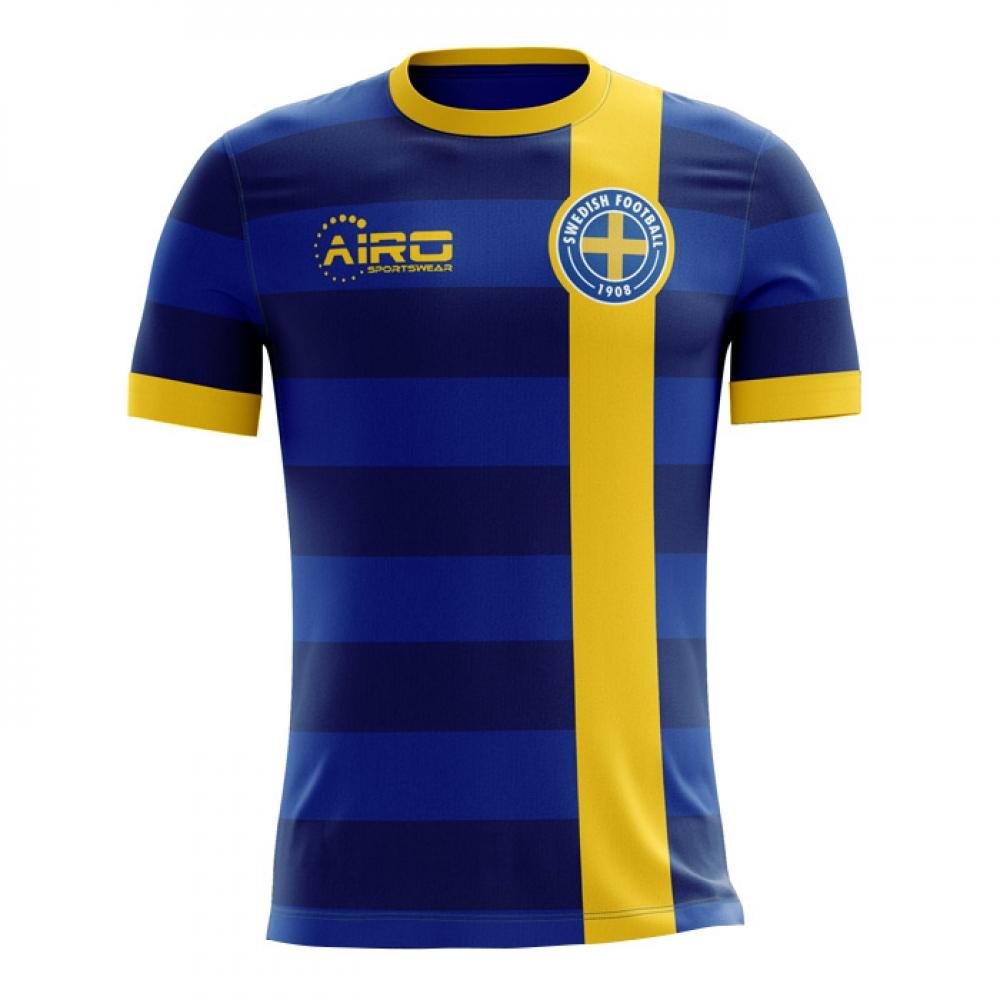 f4185b20d 2018-2019 Sweden Away Concept Football Shirt (Kids)