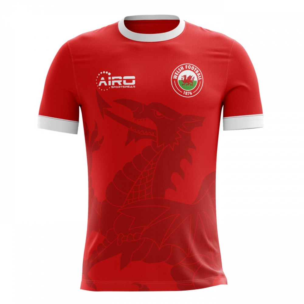 3048e2b39 2018-2019 Wales Home Concept Football Shirt (Kids)