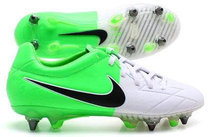 Total 90 Laser IV KL SG Pro Football Boots White/Black/Electric Green -  Uksoccershop