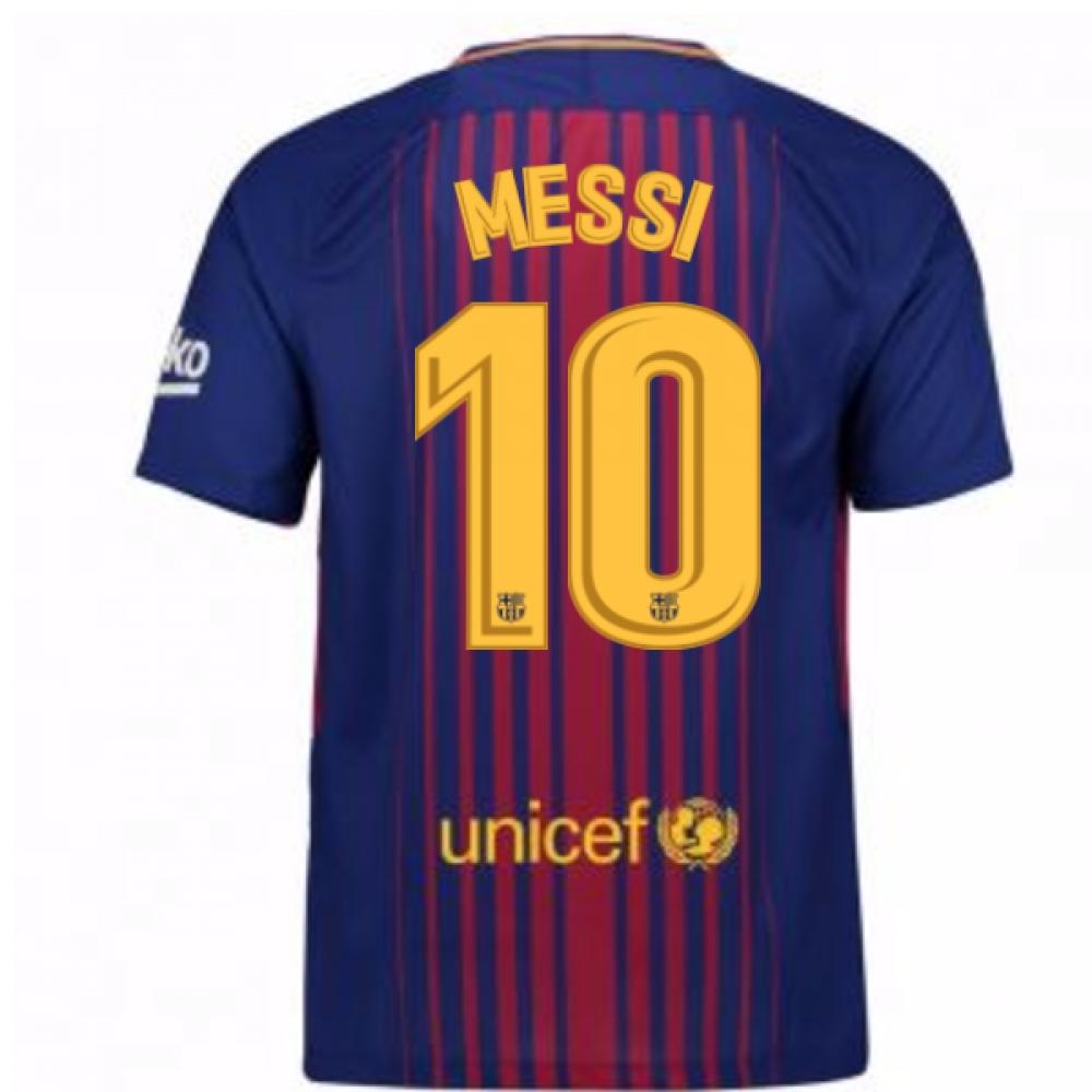 a0de8160f 2017-2018 Barcelona Home Shirt (Messi 10) - Kids