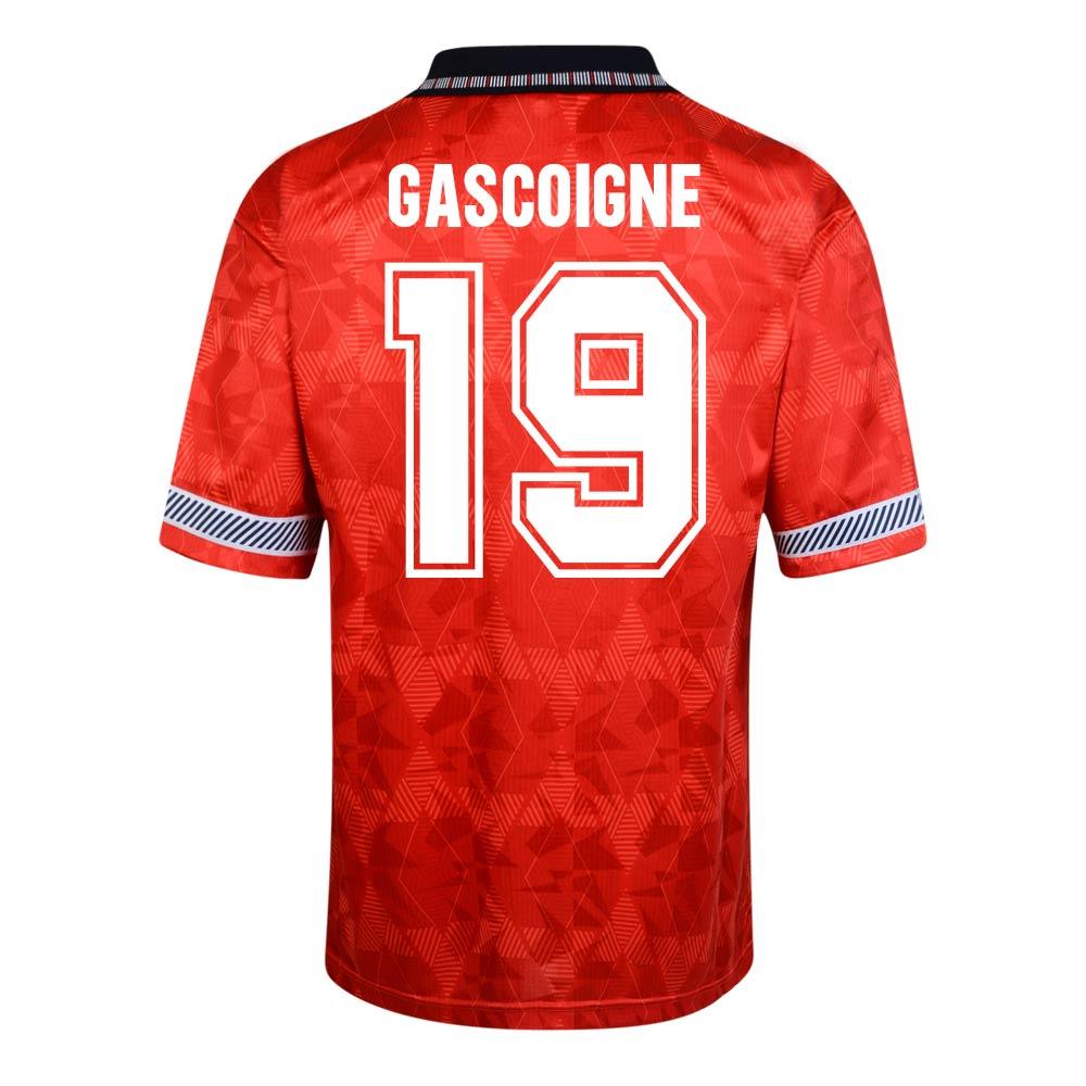 e86be0f03b2 Score Draw England World Cup 1990 Home Shirt (Gascoigne 19)