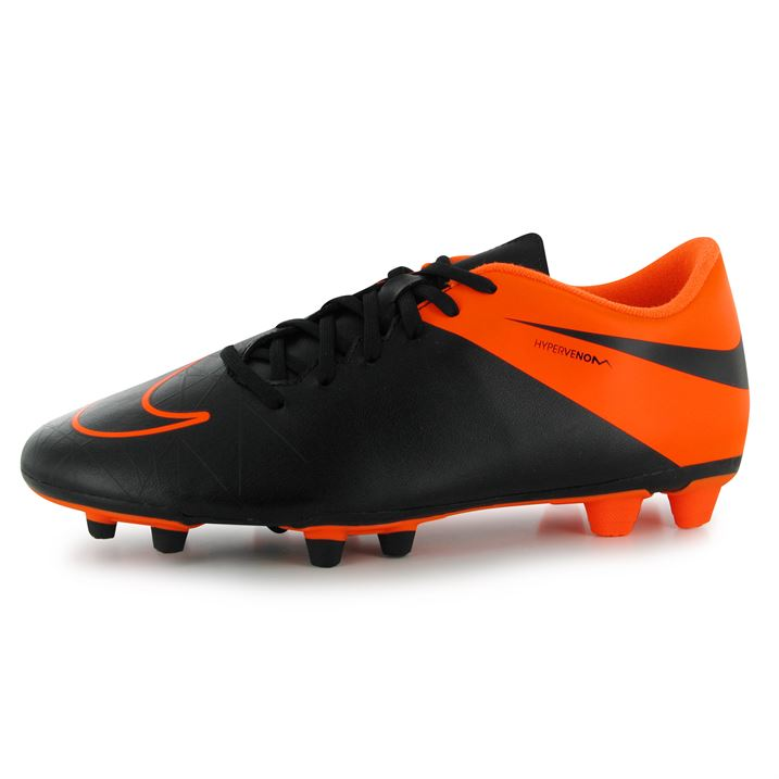 mens nike new hypervenom football boots fg cleats orange black