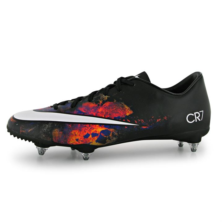 nike mercurial victory cr7 mens sg football boots (black red) uksoccershop