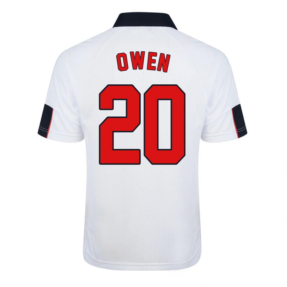 661a5d045 Score Draw England World Cup 1998 Home Shirt (Owen 20)