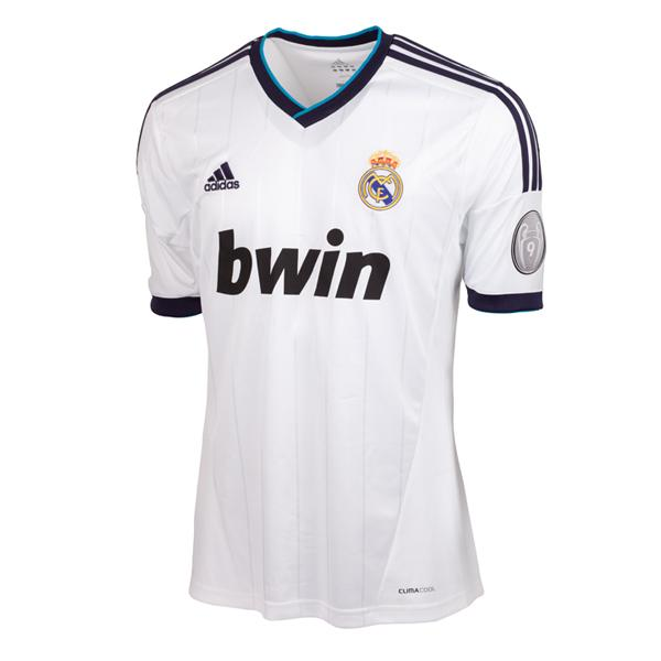 the latest f8b7b dfa65 2012-13 Real Madrid Adidas Home UCL Shirt W41768 - Uksoccers