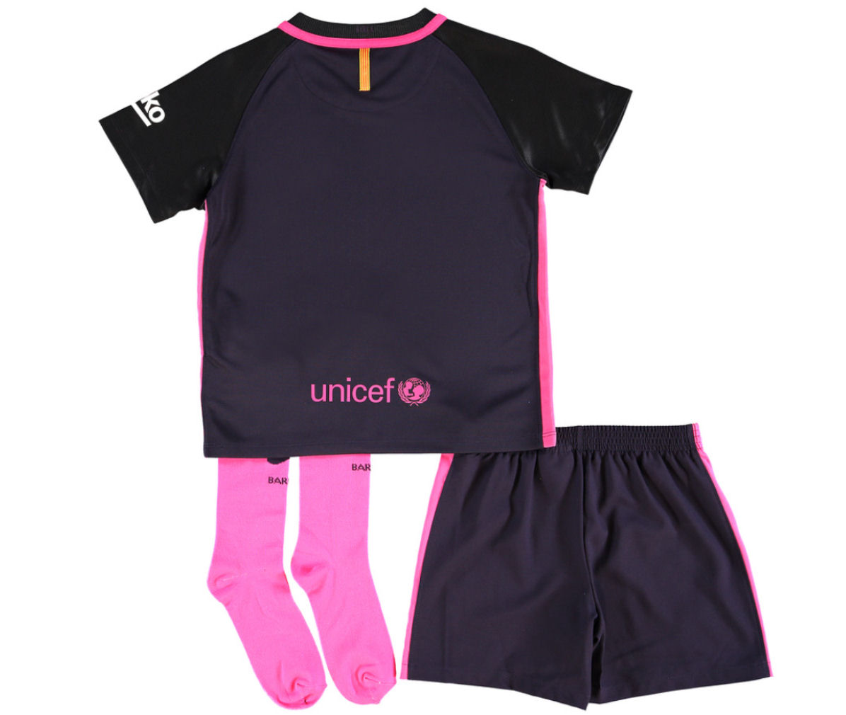 c73bf6b83 2016-2017 Barcelona Away Nike Baby Kit  776716-525  - Uksoccershop