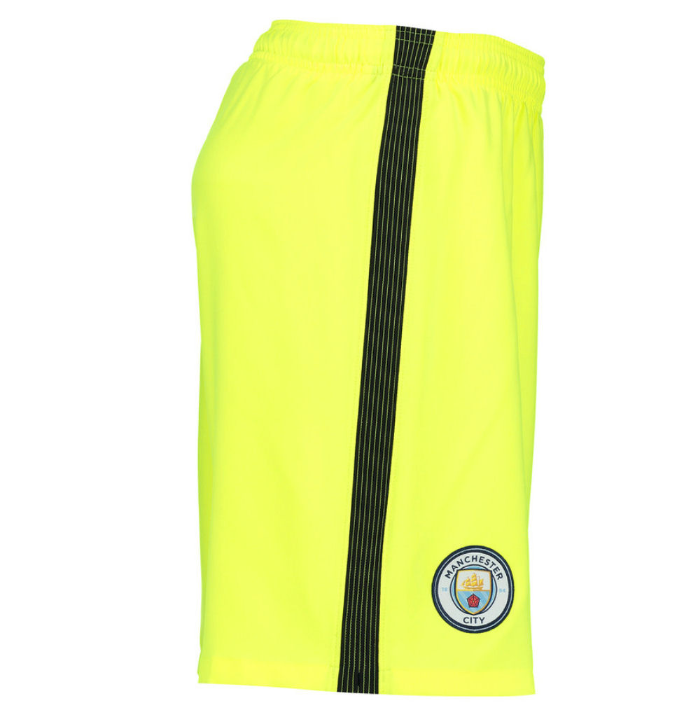 2016-2017 Man City Home Nike Goalkeeper Shorts (Volt) - Kids  777053-702  -  Uksoccershop 08fb45e5a