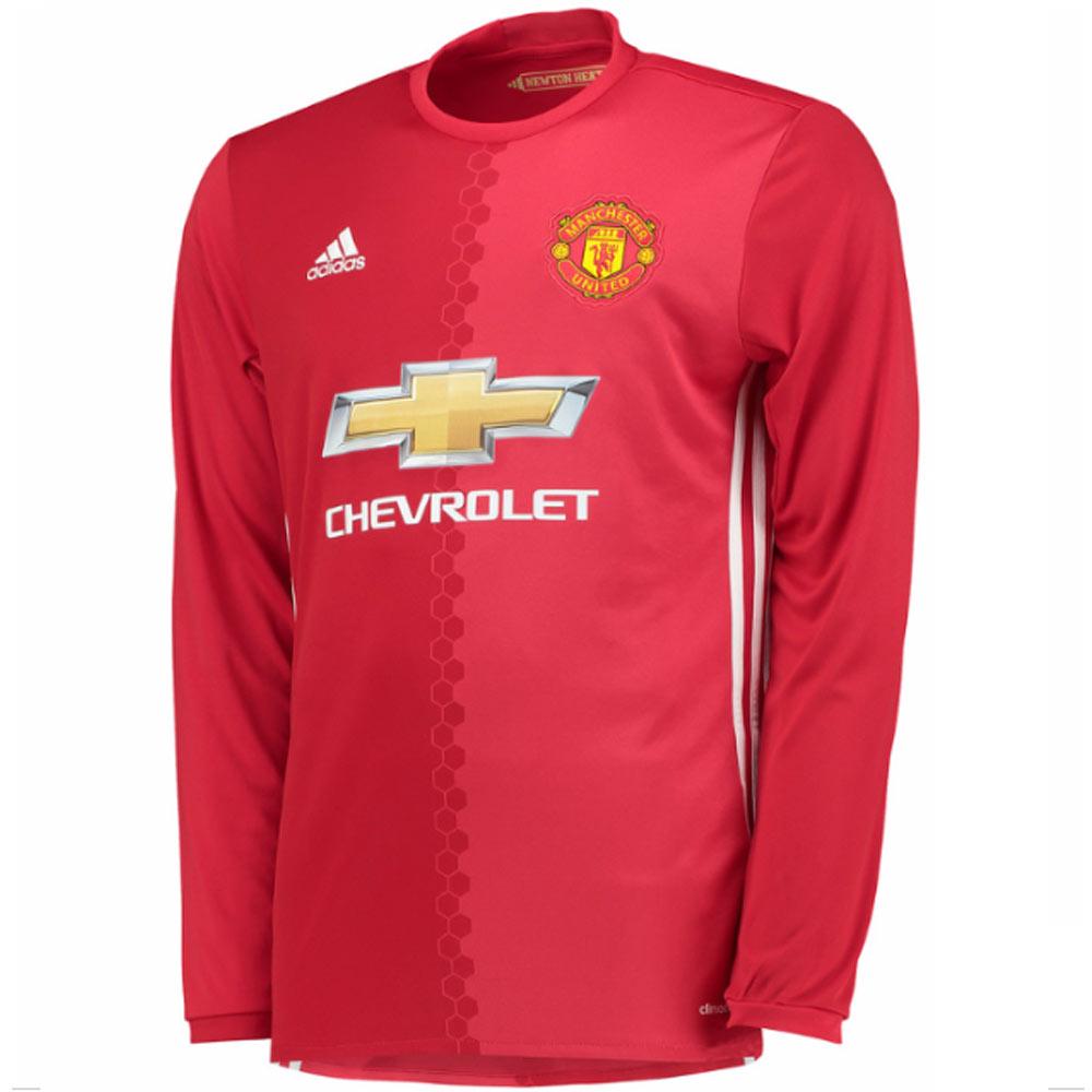 d8ce084f8 ... 2016-2017 Man Utd Adidas Home Long Sleeve Shirt AI6718 - Uksoccershop  ...