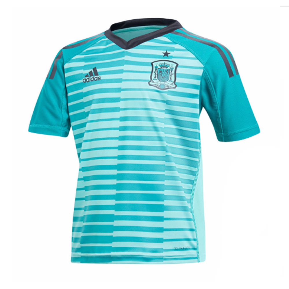 be0e8dbcd 2018-2019 Spain Home Goalkeeper Adidas Youth Kit  BQ8873  - Uksoccershop