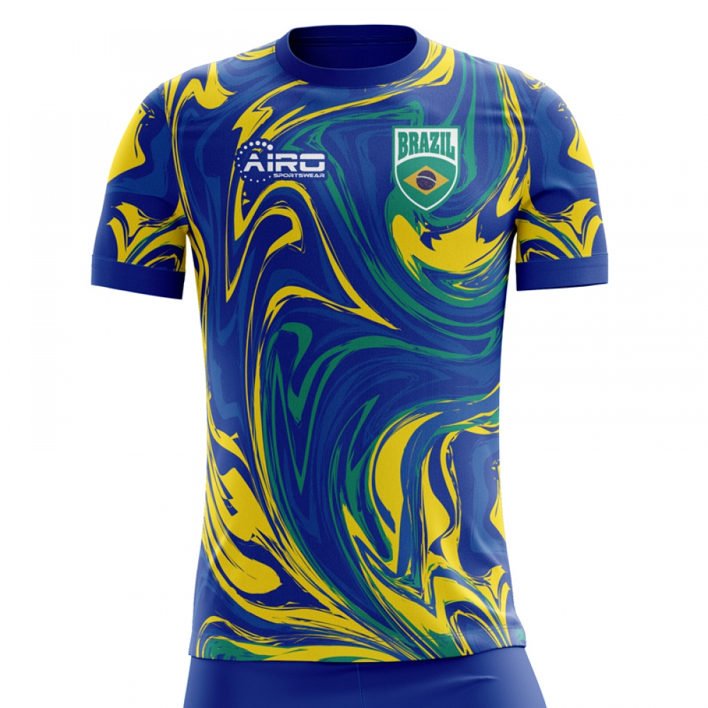 2018-19 Brazil Away Concept Shirt (Pele 10) - Kids  BRAZILAWAYK-118620  -  Uksoccershop 52b03b0f844