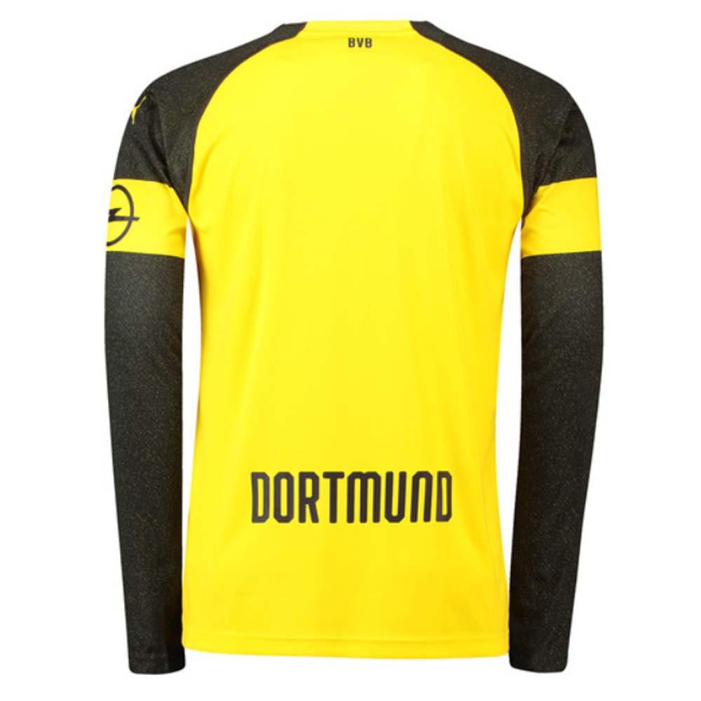 2018-2019 Borussia Dortmund Home Long Sleeve Puma Shirt  75331101  -  Uksoccershop 8e3f43948