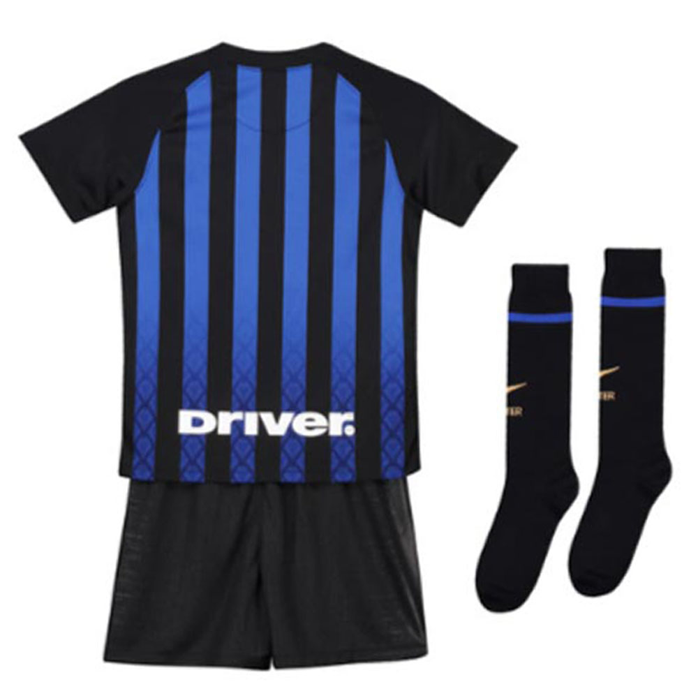 2018-2019 Inter Milan Home Nike Little Boys Mini Kit  919310-011  -  Uksoccershop 84ad616ff