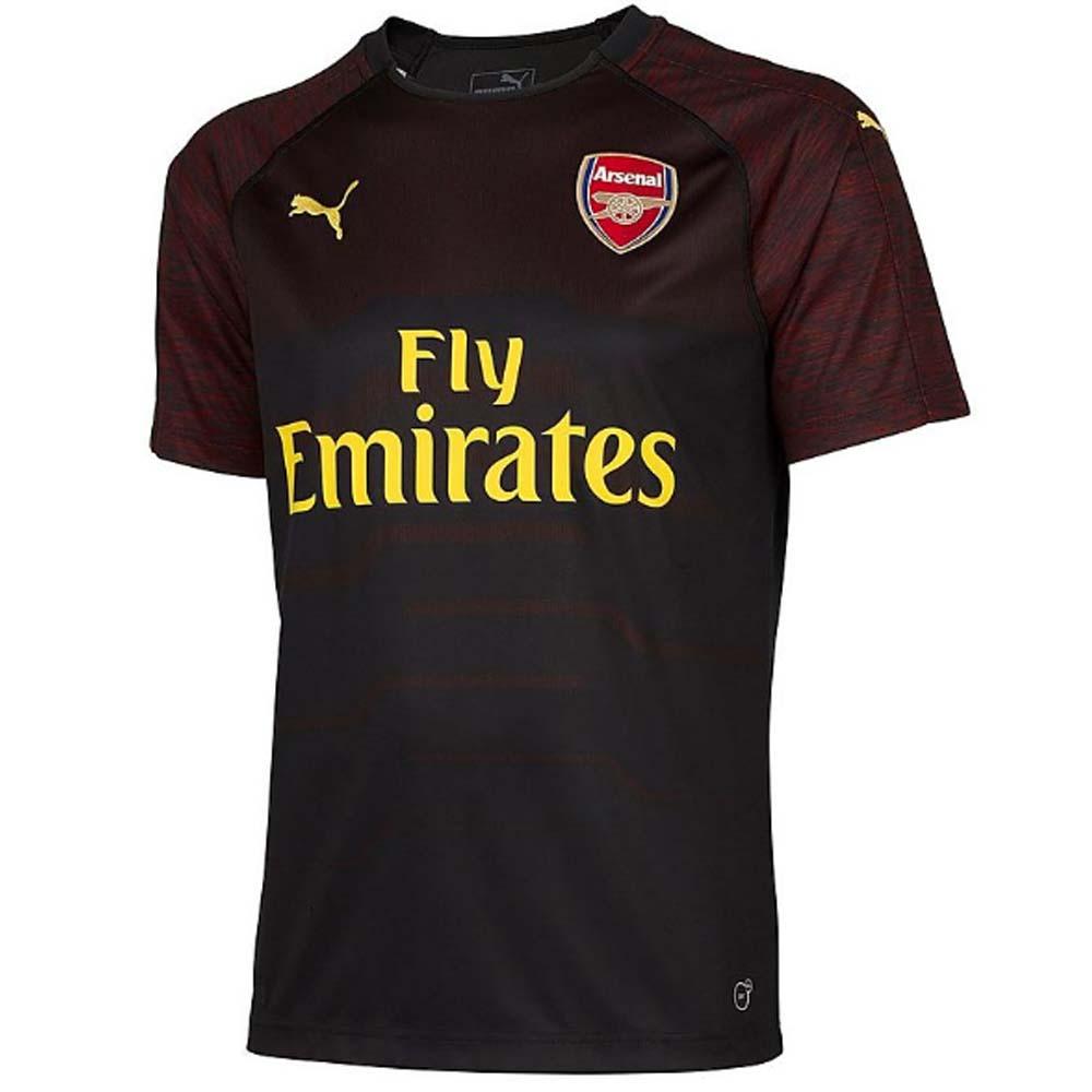 459724fb3f0 2018-2019 Arsenal Puma Home SS Goalkeeper Shirt (Black) - Kids [75322507] -  Uksoccershop