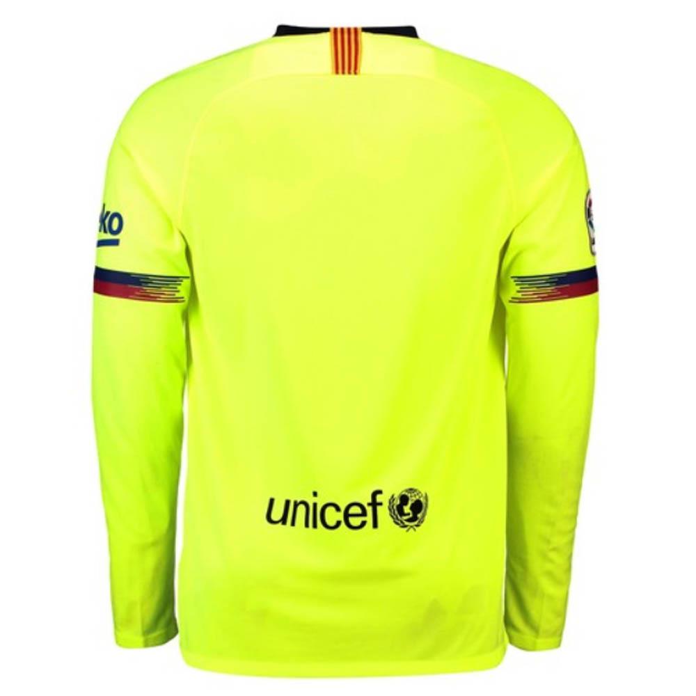 65d8ca3f124 2018-2019 Barcelona Away Nike Long Sleeve Shirt [919045-703] - Uksoccershop