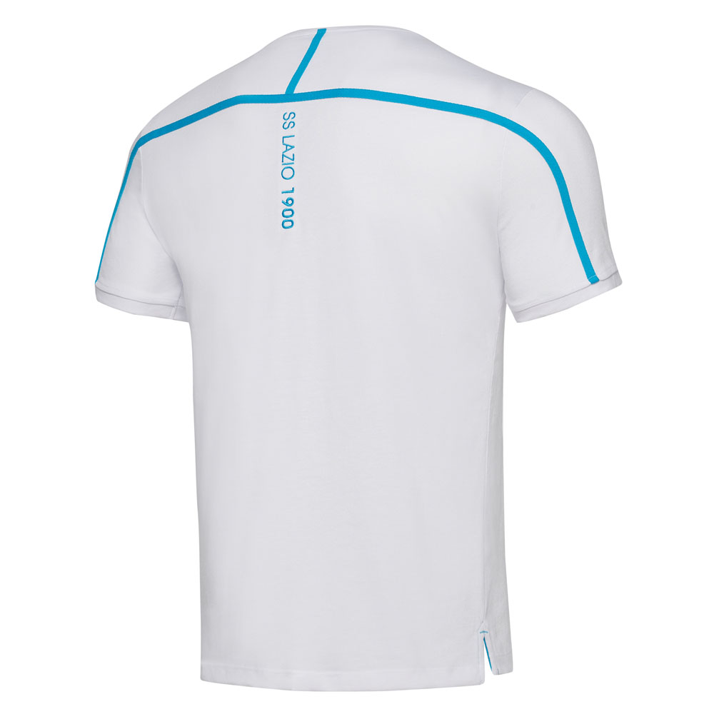 2018-2019 Lazio Official Cotton T-Shirt (White)  58023879  - Uksoccershop 40b83c139